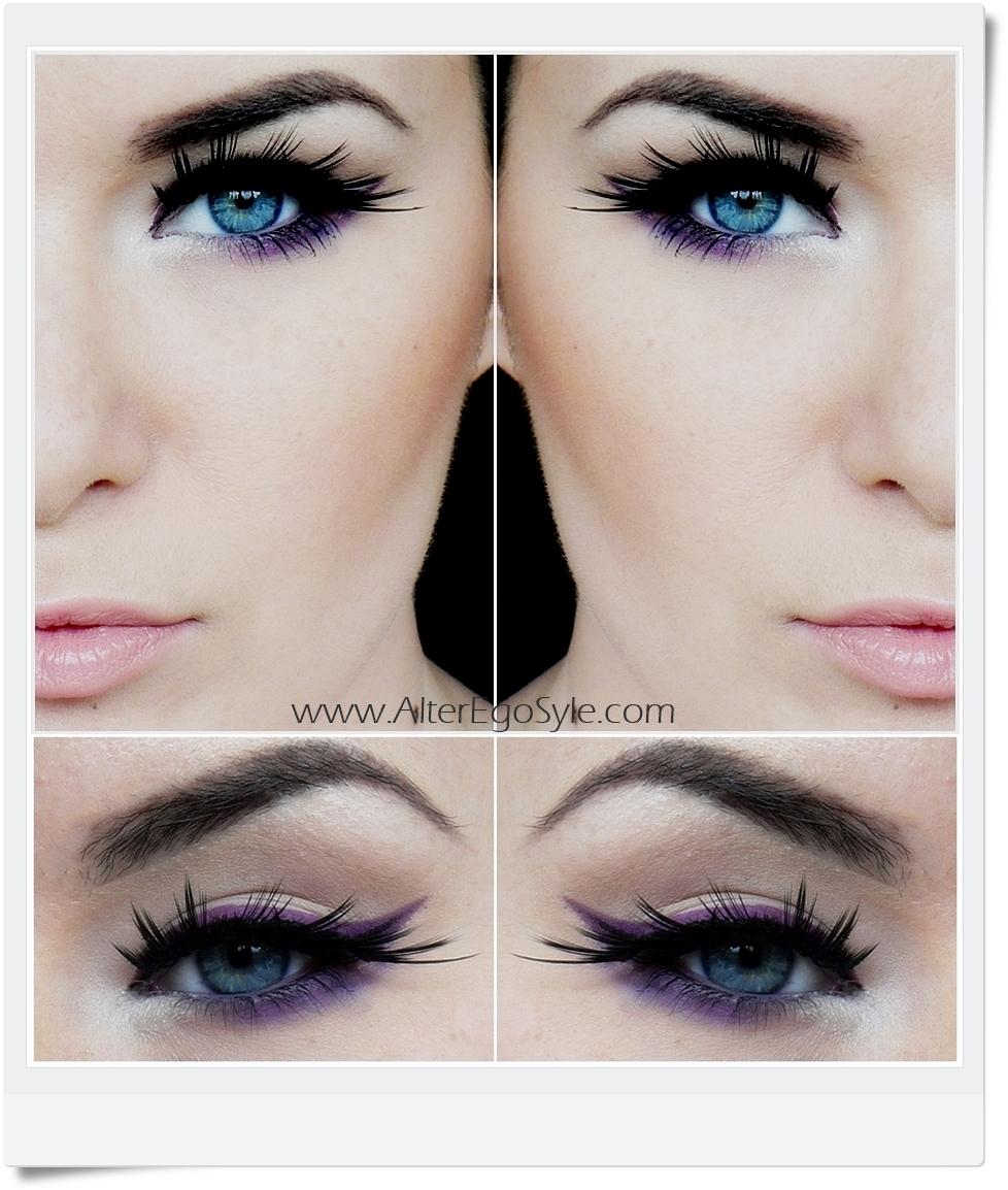 purple eyeliner vogue-vert
